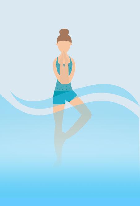 Hottub Yoga - Pretzel Pose